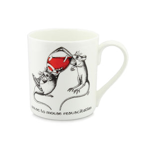 Simon Drew Mouse To Mouse Resuscitation China Mug