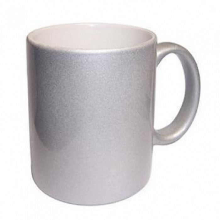 Silver Speckle Personalised Photo Mug