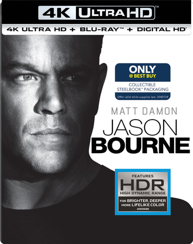 Jason Bourne (2016) Vudu or Movies Anywhere 4K redemption only