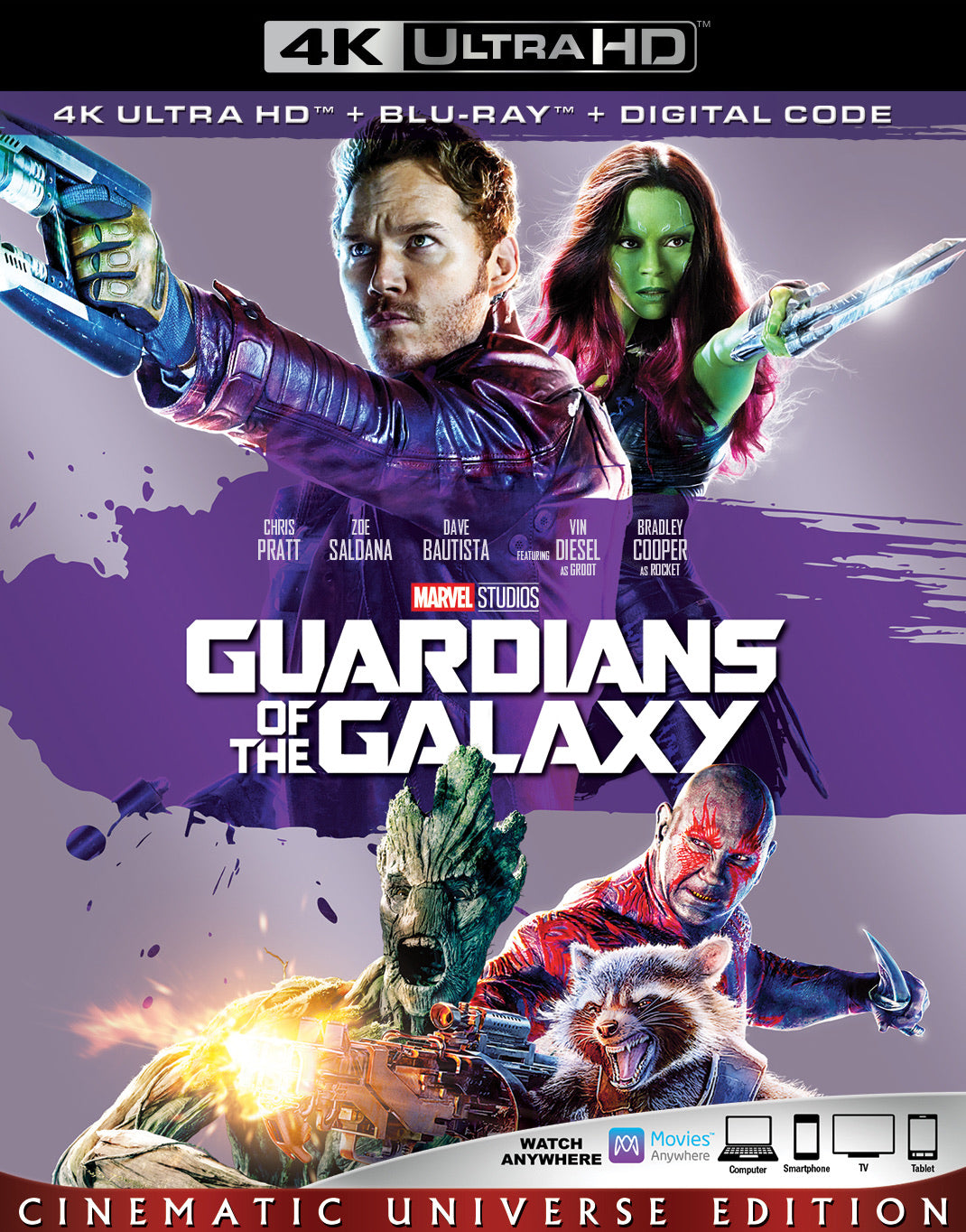 Guardians of the Galaxy Vol. 1 (2014) Vudu or Movies Anywhere 4K redemption only
