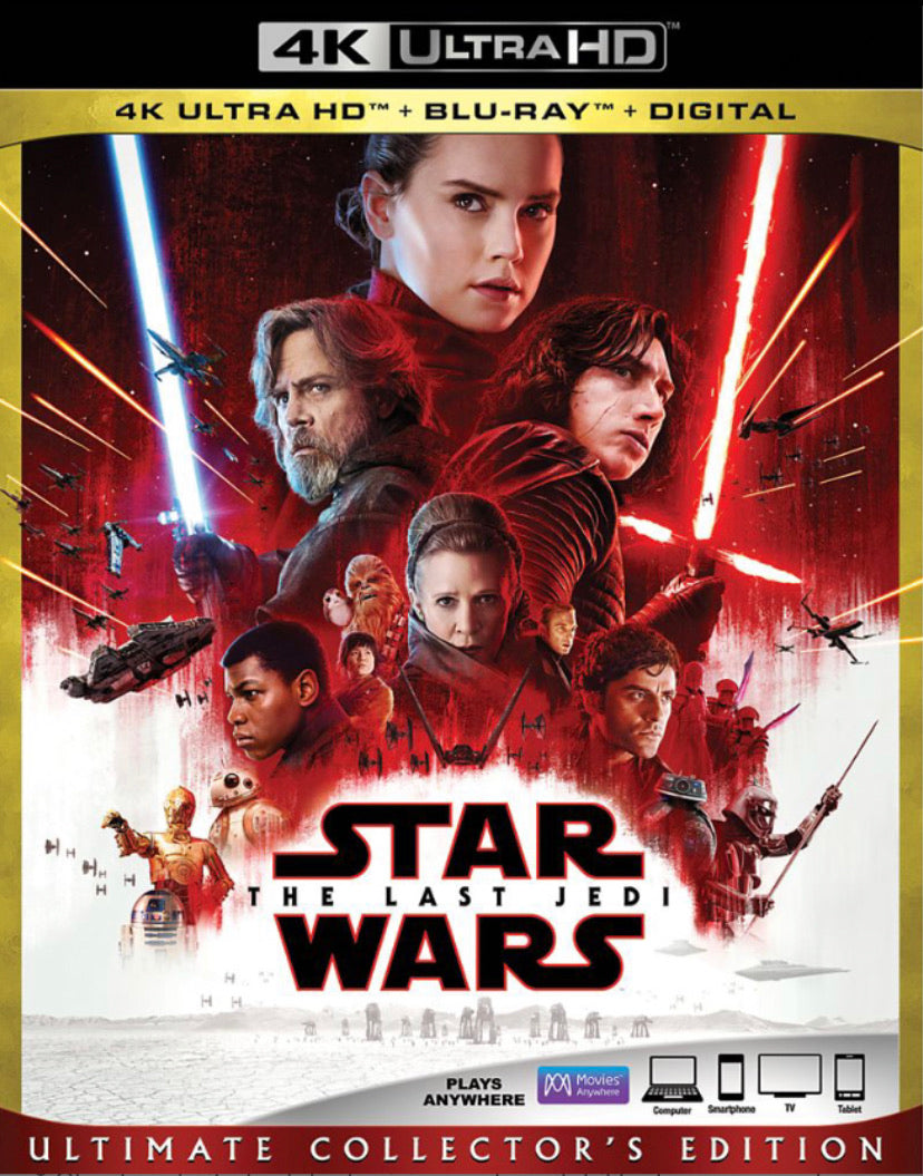 Star Wars: The Last Jedi (2017: Ports Via MA) iTunes 4K code