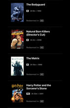 Load image into Gallery viewer, Warner Brothers 50-Film Collection Vudu or Movies Anywhere HD code