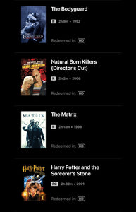 Warner Brothers 50-Film Collection Vudu or Movies Anywhere HD code