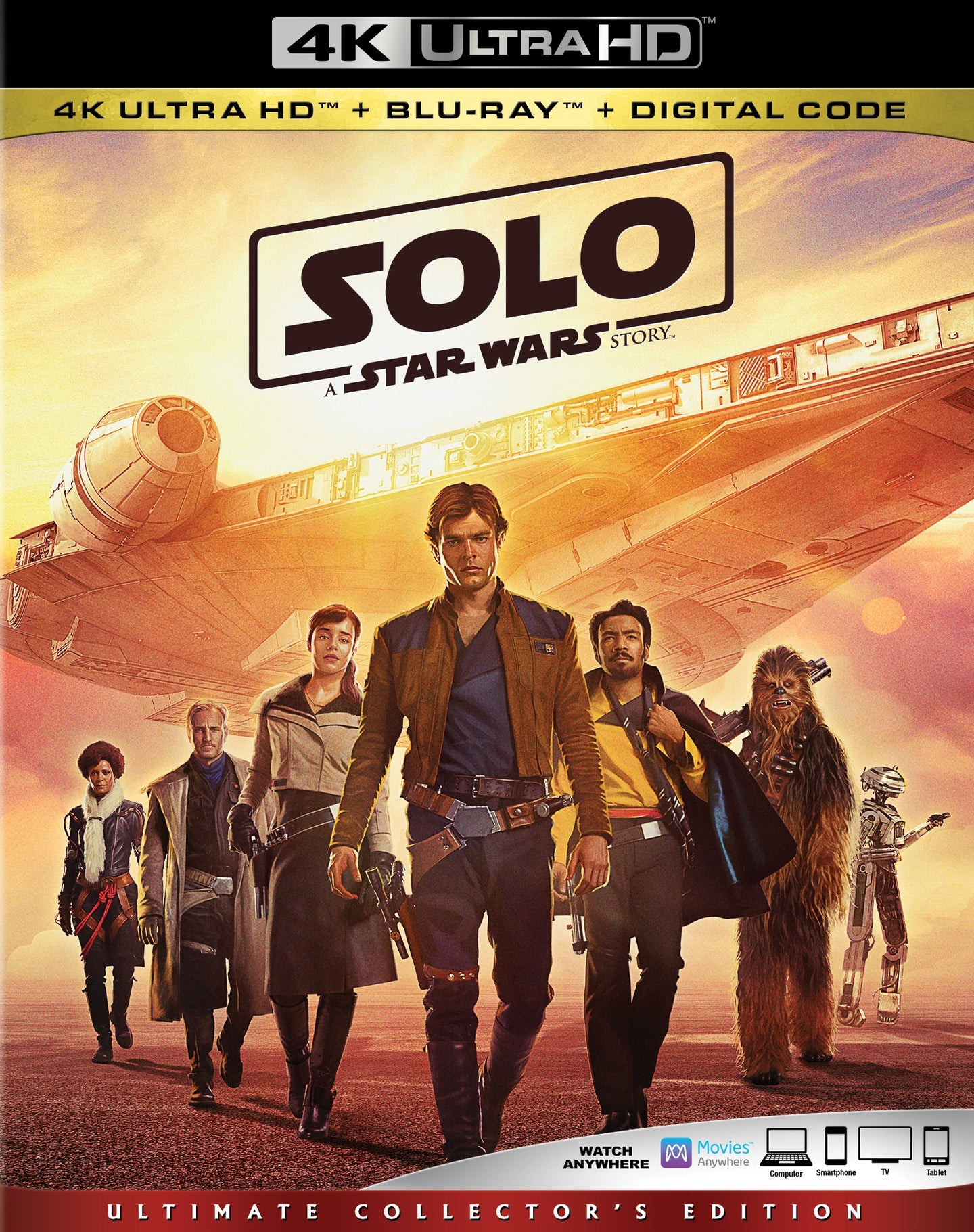 Solo: A Star Wars Story (2018) Vudu or Movies Anywhere 4K redemption only