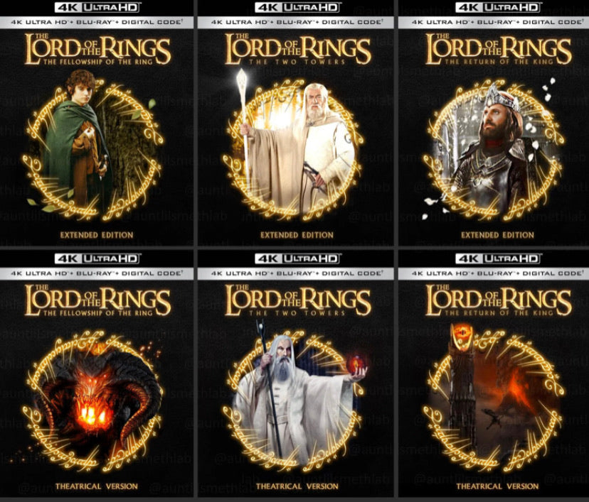The Lord of the Rings: The Complete Theatrical and Extended Trilogies (2001-2003) Movies Anywhere 4K code