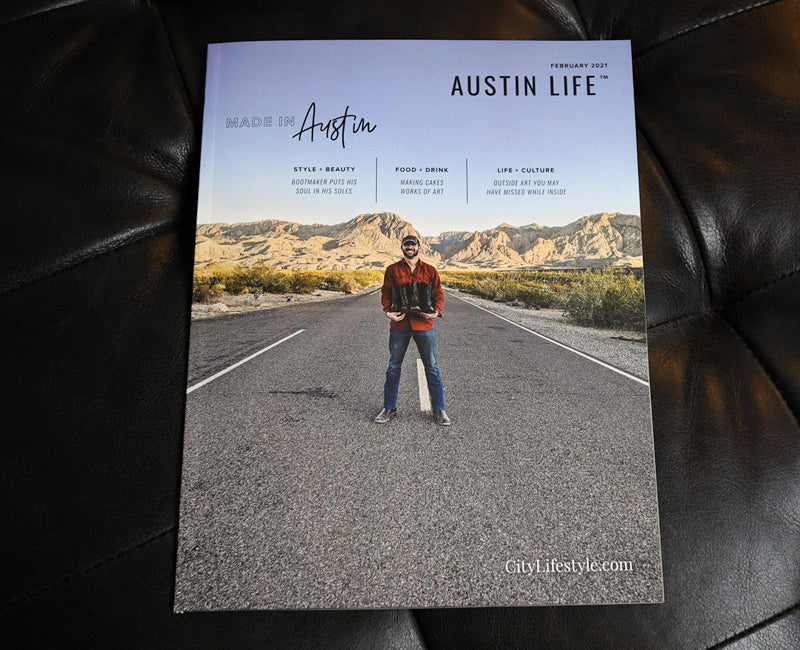 Austin Life Magazine Cover Art - Chisos Boot Company - February 2021