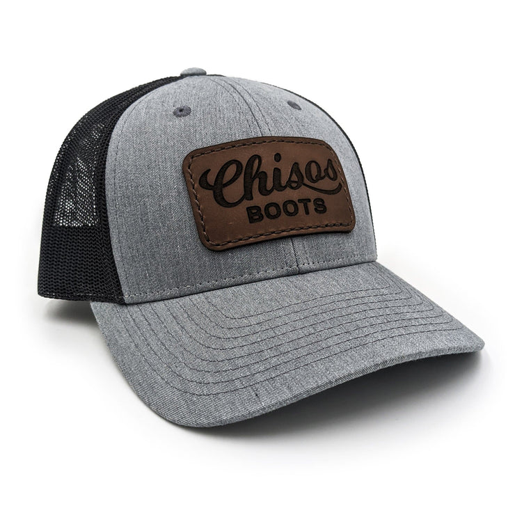 Chisos leather patch snapback hat