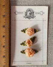 Load image into Gallery viewer, Antique French Silk Roses Appliques