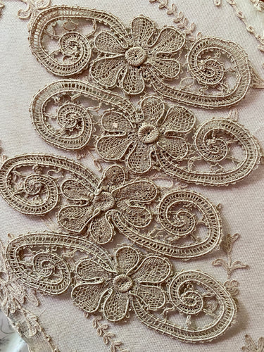 Hand Made Linen Lace Applique Swags