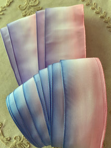 Three Color French Ombré Wired Ribbon