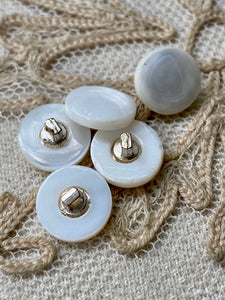 Antique Mother of Pearl Buttons on French Card