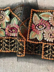 Tambour and Gold Metal Embroidered Appliques