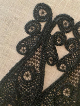 Load image into Gallery viewer, Victorian Black Glass Beaded Appliques