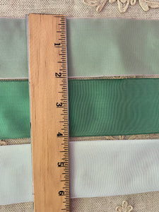 French Wired Ribbons in Three Greens