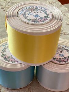 Vintage 2 Inch Width Double Faced Satin Ribbon - By the Roll