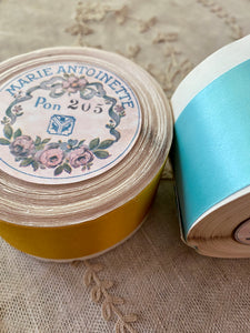 Vintage 1.5 Inch Width Double Faced Satin Ribbon - By the Roll