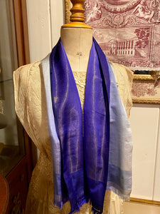 Antique Silk and Gold Metal Scarf