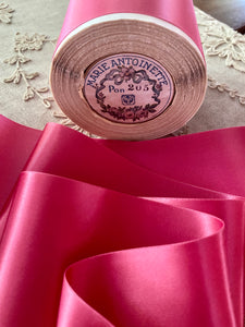 Shocking Pink Satin Ribbon 3 Inch Width-by the roll