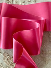 Load image into Gallery viewer, Shocking Pink Satin Ribbon 3 Inch Width-by the roll