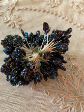 Load image into Gallery viewer, French Millinery Buds Iridescent Glitter Black or White