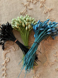 French Millinery Buds Three Different Colors