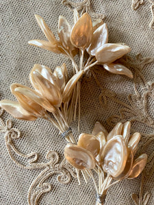 Large French Celluloid Millinery  Leaves