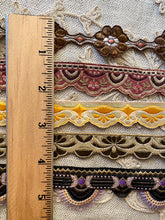 Load image into Gallery viewer, Five Different Antique Woven French Trims