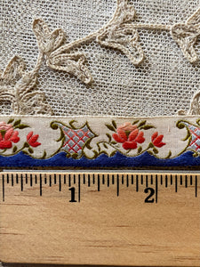 Three Different Antique French Ribbons by the half yard