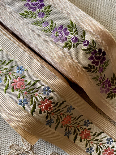 Vintage French Floral Ribbons in Two Styles