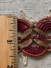 Load image into Gallery viewer, Lacey Scalloped Gold Metal & Cord Trim