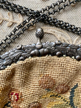 Load image into Gallery viewer, Antique French Petit Point Handbag with Silver Fittings