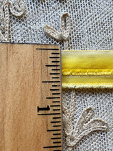 Load image into Gallery viewer, Vintage Yellow Ombre Chenille & Tinsel Ribbons