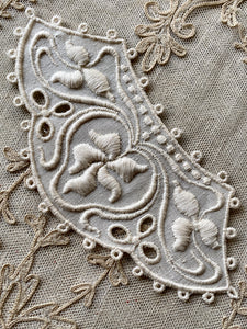 Arts & Crafts Era Embroidered Linen Appliques