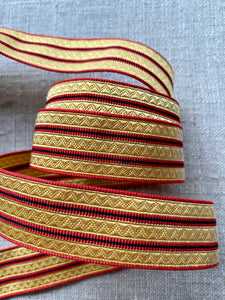 Two Different Choices Vintage French Finely Patterned Braid/Trim By the Yard