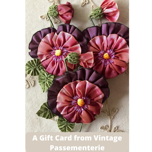 Gift Cards from Vintage Passementerie
