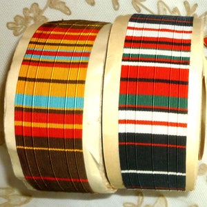 Vintage Ribbon by the Roll - Bayadere Ribbon Trim in Two Color Choices