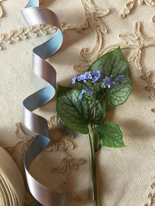 Vintage Ribbon by the Roll - Pale Lavender Blue Single Faced Satin Ribbon