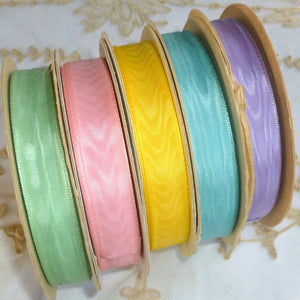 Vintage Ribbon by the Roll - Moire Ribbon