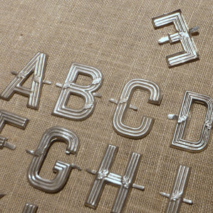 Antique French Metal Letters