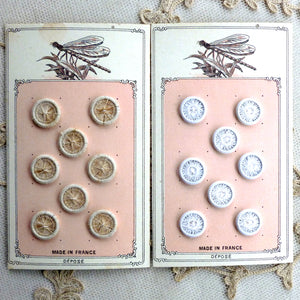 Hand Made Linen Buttons - French