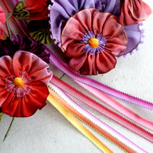 Load image into Gallery viewer, Picot Ombre Ribbon for Flower Centers