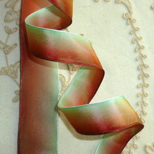 French Ombre Ribbon Rust Green Ombre