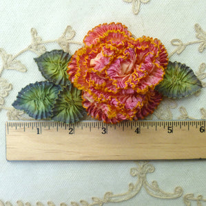 French Ombre Ribbon Flower with Crimped Edges