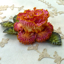 Load image into Gallery viewer, French Ombre Ribbon Flower with Crimped Edges