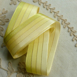 Vintage Ombre and Gold Tinsel Ribbon