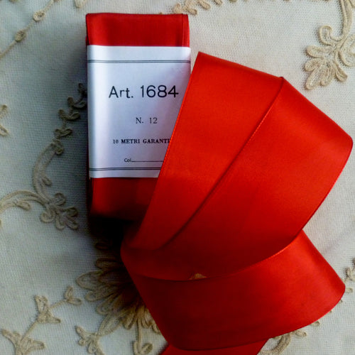 Quality Vintage Taffeta Poppy Red