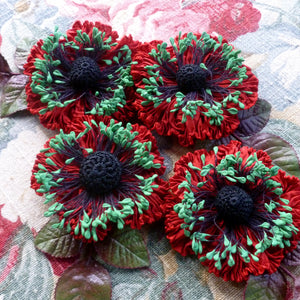 Ruched Ribbon Flower for the Holidays