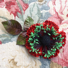 Load image into Gallery viewer, Ruched Ribbon Flower for the Holidays