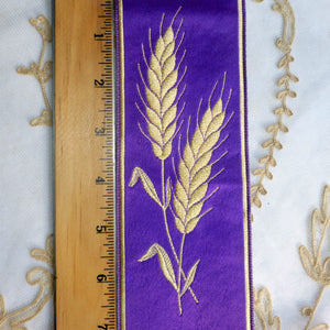 Royal Purple and Wheat Motif Ribbon Trim