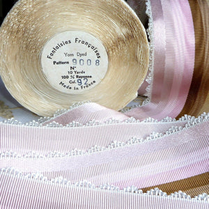 Vintage Ribbon by the Roll - French Scalloped Picot Edge Ribbon